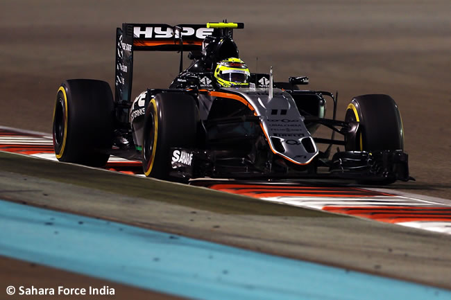 Sergio Pérez - Force India - GP de Abu Dhabi