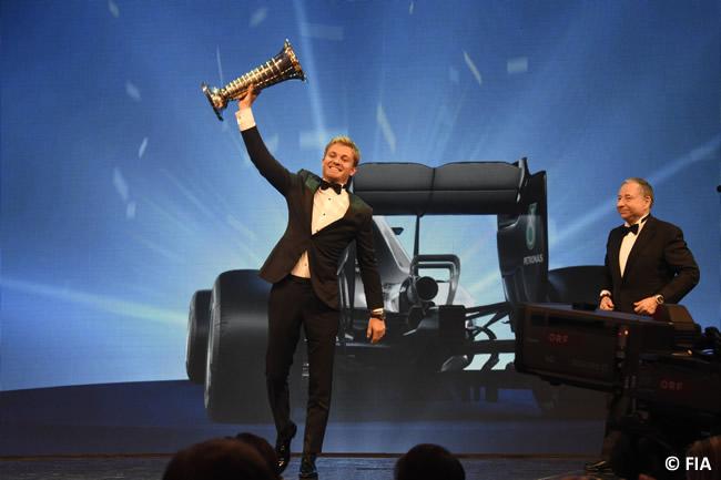 Nico Rosberg - Campeón - Gala FIA - Entrega Premios 2016