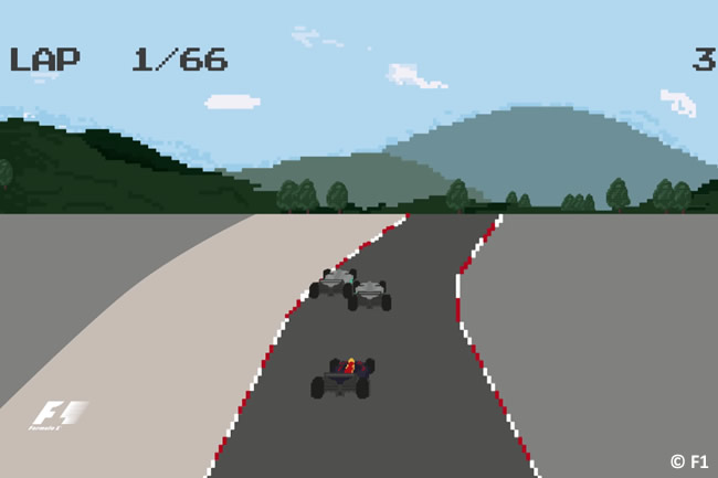 Vídeo - Estilo videojuego - 8-bit - Formula1.com