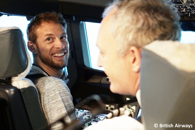 Jenson Button - Simulador - British Airways