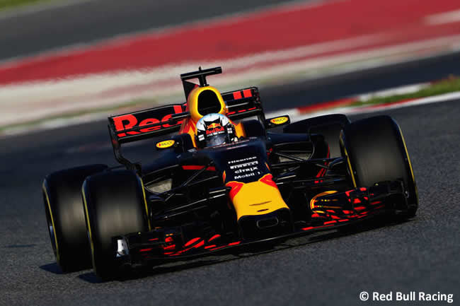 Daniel Ricciardo - Red Bull Racing - Test 1 Barcelona - Pretemporada 2017 - Día 1