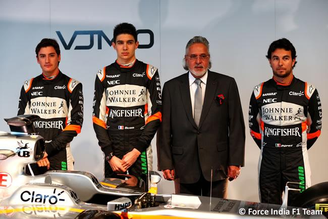 Force India F1 Team - Presentación VJM10 - Sergio Pérez - Esteban Ocon - Alfoso Celis - Dr. Vijay Mallya