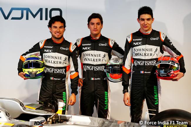 Force India F1 Team - Presentación VJM10 - Sergio Pérez - Esteban Ocon - Alfoso Celis