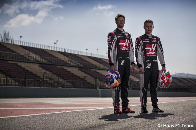 Haas - Romain Grosjean - Kevin Magnussen
