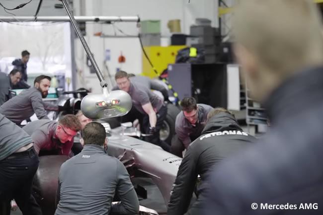 Practicas Paradas Pretemporada 2017 - Mercedes AMG