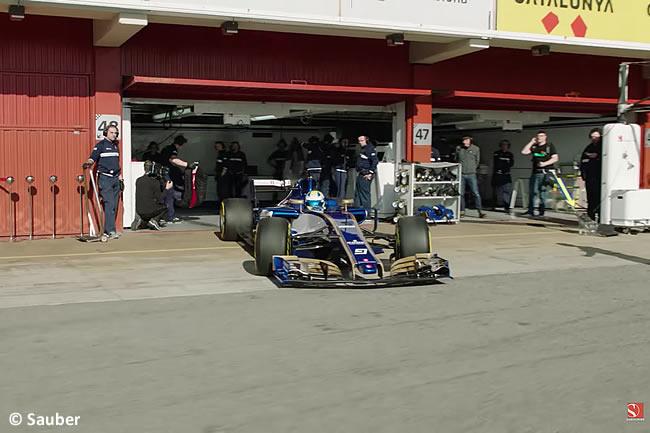 Sauber - Primer Contacto Pista - Circuit de Catalunya - C36 - 2017
