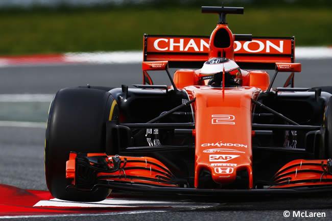 Stoffel Vandoorne - McLaren-Honda - Test 1 Barcelona - Pretemporada 2017 - Día 2