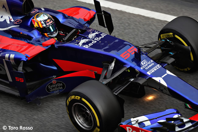 Carlos Sainz - Toro Rosso - Test 2 Barcelona - Pretemporada 2017 - Día 2