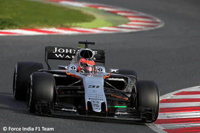 Esteban Ocon - Force India - Test 1 Barcelona - Pretemporada 2017 - Día 2
