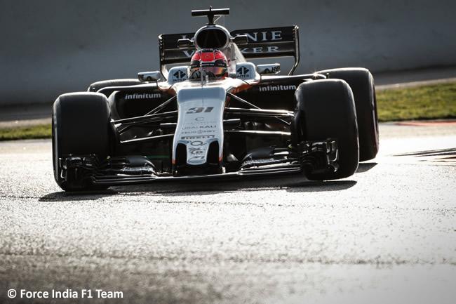 Esteban Ocon - Force India - Test 2 Barcelona - Pretemporada 2017