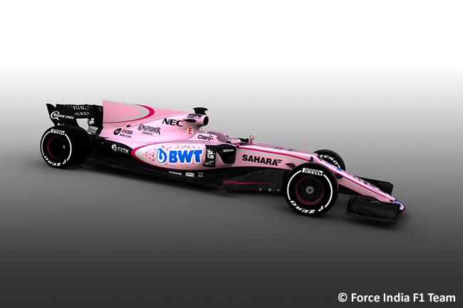 Force India 2017 - Rosa BWT