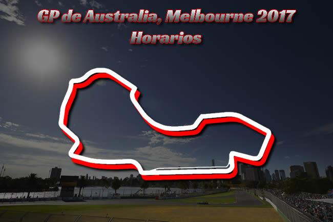 Horarios Gran Premio de Australia 2017 - Melbourne - Albert Park