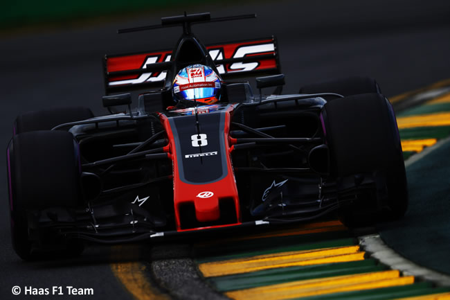 Romain Grosjean - Haas F1 Team - GP Australia - Calificación 2017