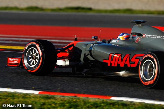 Romain Grosjean - Haas - Test 1 Barcelona - Pretemporada 2017 - Día 3