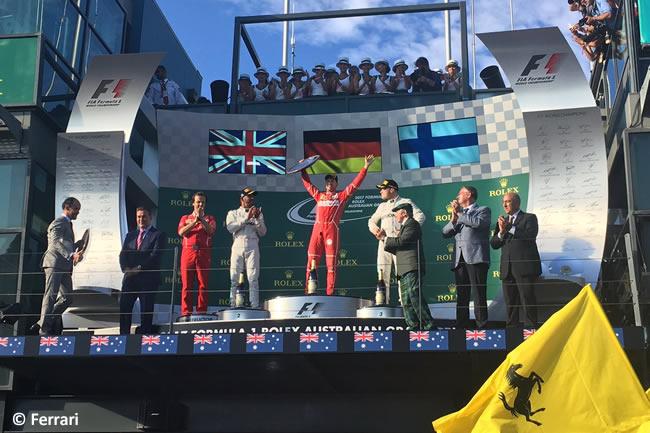 Sebastian Vettel - Podio - Victoria Scuderia Ferrari - GP Australia - Melbourne 2017