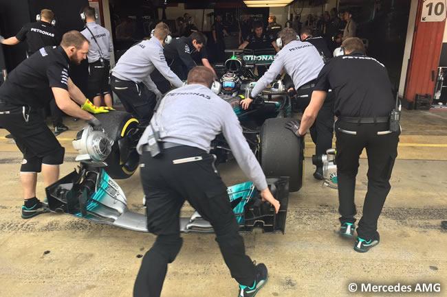 Valtteri Bottas - Mercedes AMG - Test 1 Barcelona - Pretemporada 2017 - Día 2