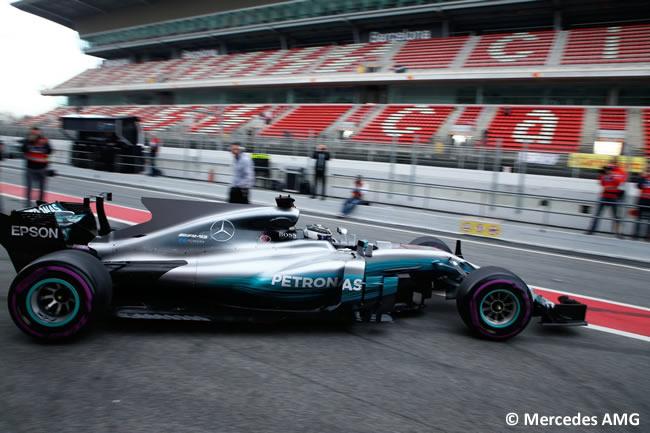 Valtteri Bottas - Mercedes AMG - Test 2 Barcelona - Pretemporada 2017 - Día 2