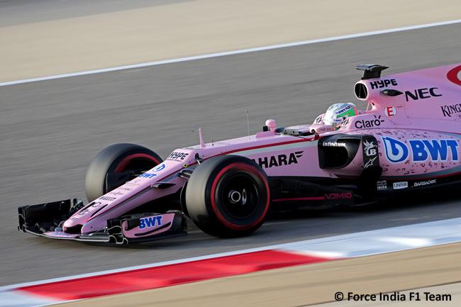 Alfonso Celis - Force India - Test Bahréin temporada 2017 - Día 1