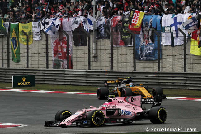 Force India - Gran Premio China 2017 - Carrera - Domingo