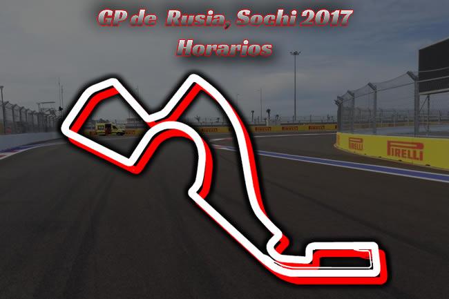 Horarios - Gran Premio de Rusia 2017