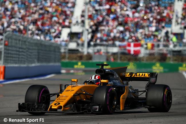 Nico Hulkenberg - Renault Sport - Domingo - Carrera - GP Rusia 2017