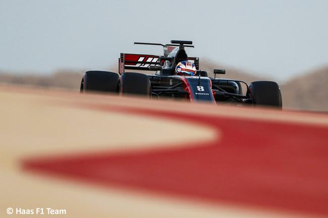 Romain Grosjean - Haas - Test Bahréin temporada 2017 - Día 1