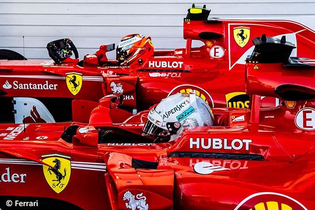 Sebastian Vettel - Kimi Raikkonen - Scuderia Ferrari - GP Rusia 2017 - Calificación - Clasificación