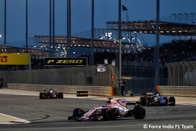 Sergio Pérez - Force India - GP Bahréin - 2017 - Domingo - Carrera