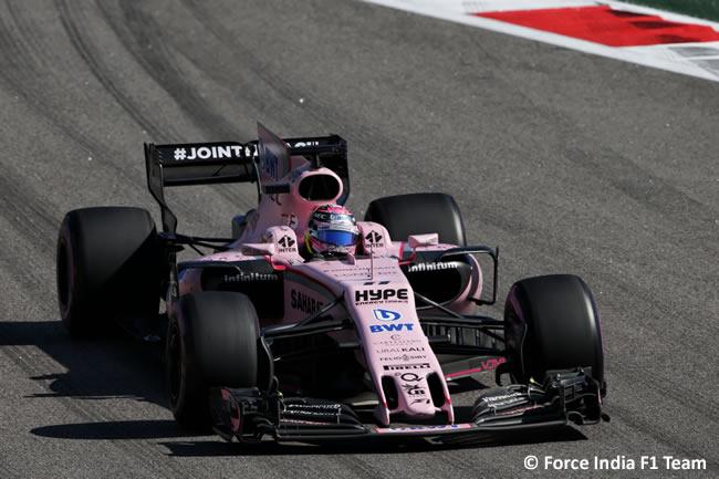 Sergio Pérez - Force India - Domingo - Carrera - GP Rusia 2017