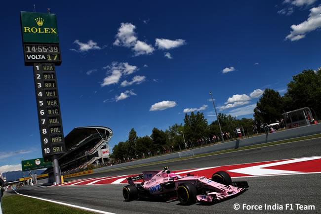 Force India - Viernes- GP España 2017