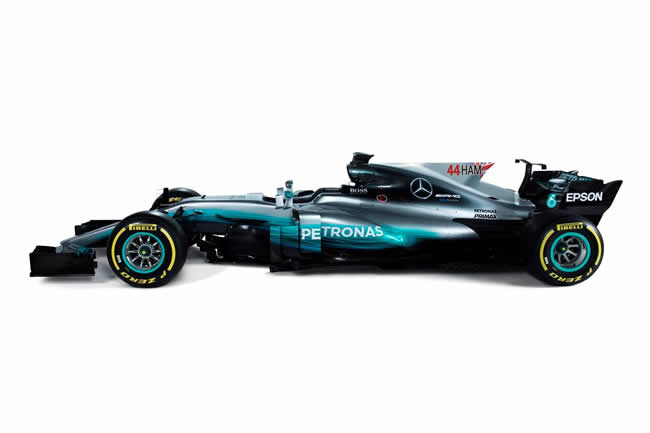 Mercedes F1 - w08 - Nombre - Dorsal - Actualizado