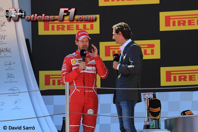 Sebastian Vettel - Scuderia Ferrari - Podio GP España - 2017 - David Sarró - www.noticias-f1.com