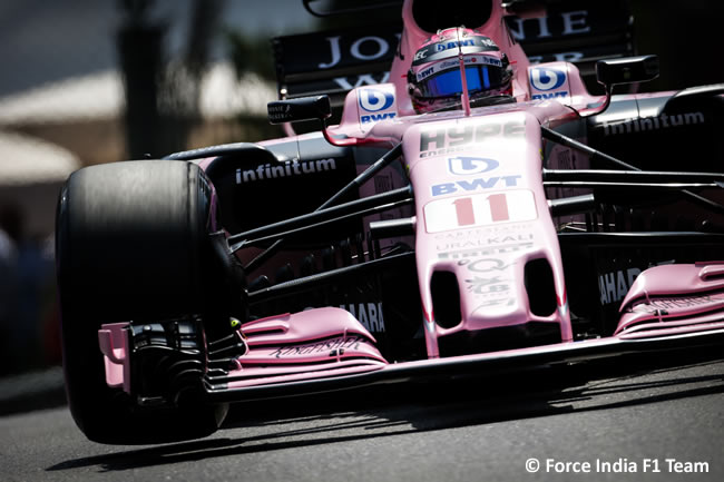 Sergio Pérez - Force India - Calificación - GP Mónaco 2017