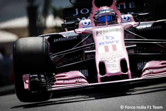 Sergio Pérez - Force India - Calificación - GP Mónaco 2017