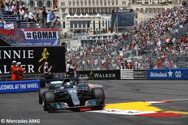 Valtteri Bottas - Mercedes AMG - Calificación - GP Mónaco 2017