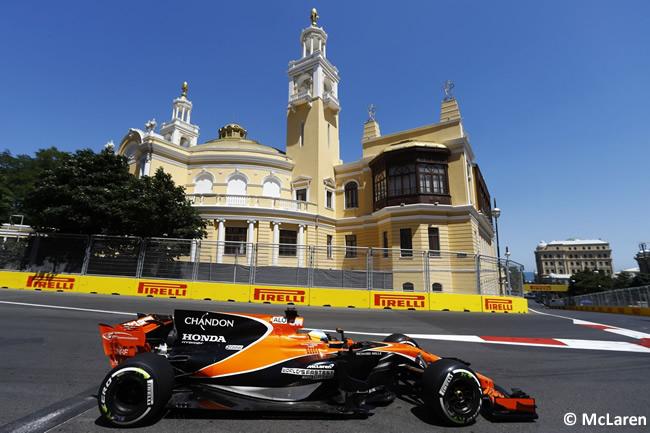 Fernando Alonso - McLaren-Honda - Calificación GP Azerbaiyán 2017