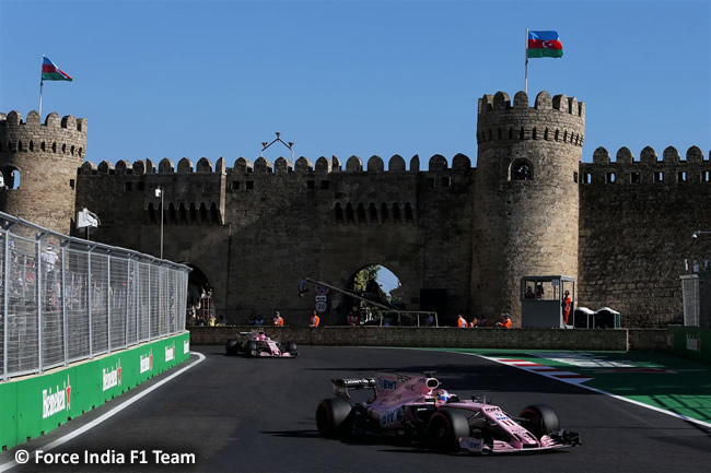 Force India - GP Azerbaiyán 2017