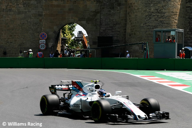 Lance Stroll - Williams - Viernes GP Azerbaiyán 2017