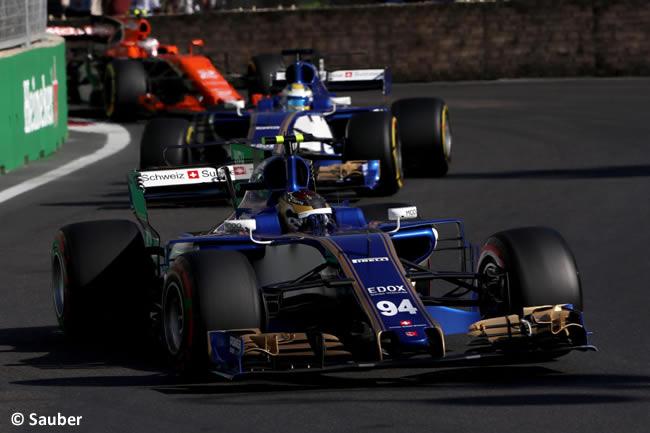 Pascal Wehrlein - Sauber - GP Azerbaiyán 2017