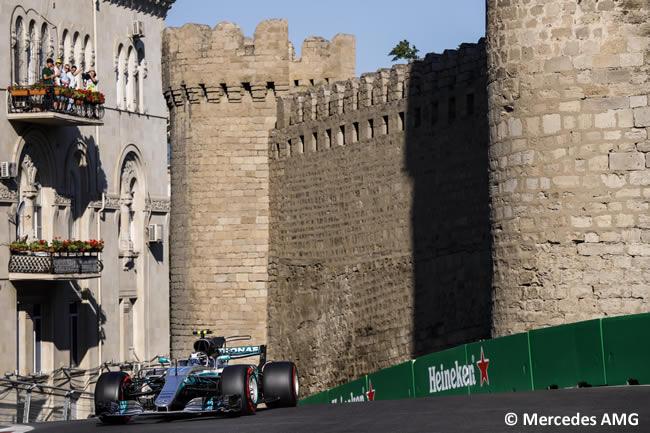 Valtteri Bottas - Mercedes AMG - GP Azerbaiyán 2017