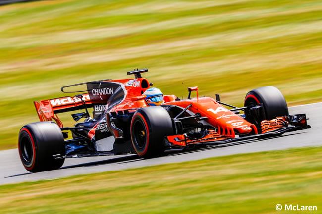 Fernando Alonso - McLaren - Viernes - GP Gran Bretaña 2017
