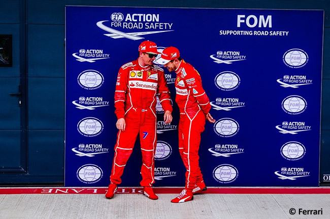 Kimi Raikkonen - Sebastian Vettel - Scuderia Ferrari - Calificación GP Gran Bretaña 2017