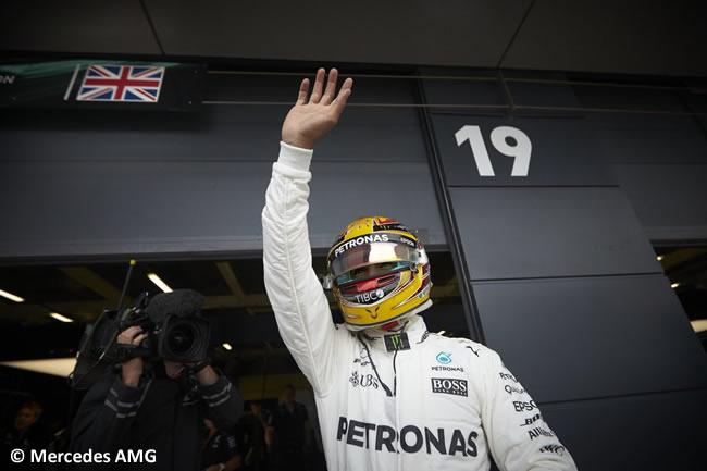 Lewis Hamilton - Mercedes AMG - Calificación GP Gran Bretaña 2017