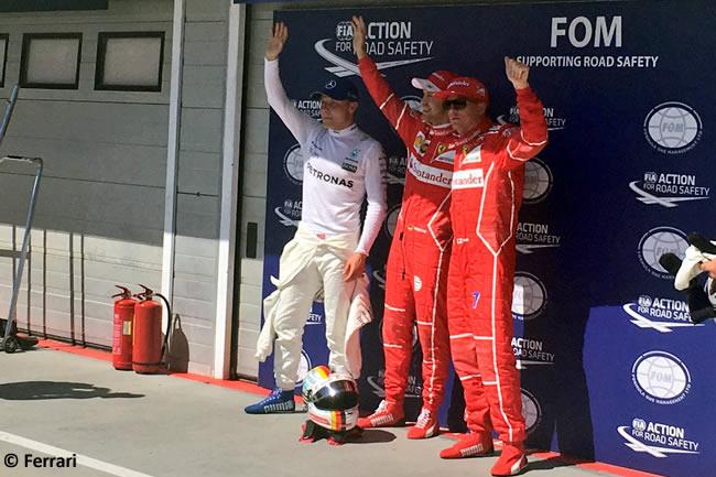Pole - Calificación GP Hungría 2017 - Sebastian Vettel - Kimi Raikkonen - Scuderia Ferrari - Valtteri Bottas- Mercedes