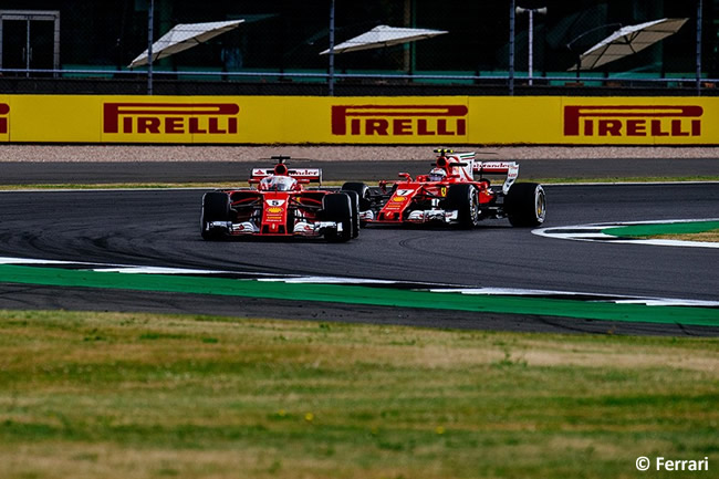 Sebastian Vettel - Kimi Raikkonen - Scuderia Ferrari - Viernes - GP Gran Bretaña 2017
