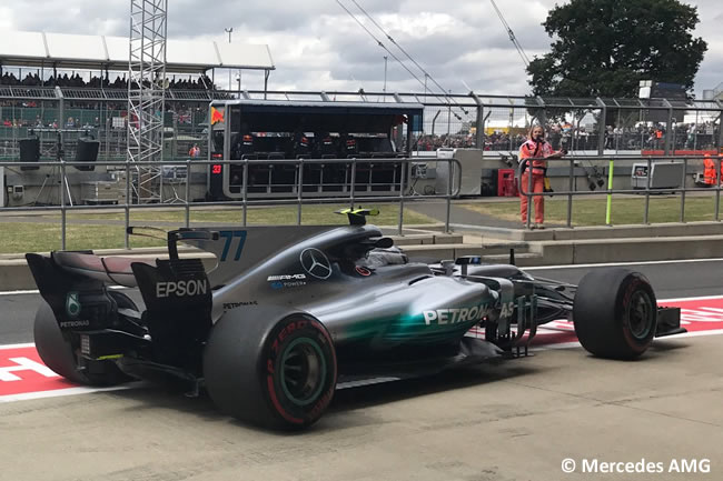 Valtteri Bottas - Mercedes AMG - Viernes - GP Gran Bretaña 2017