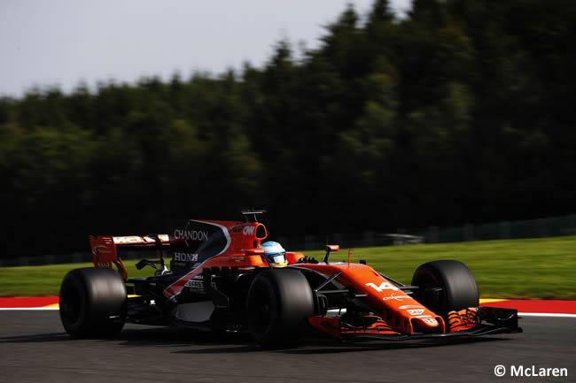 Fernando Alonso - McLaren - Entrenamientos - GP Bélgica 2017