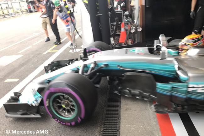 Lewis Hamilton -Mercedes AMG - Entrenamientos - GP Bélgica 2017