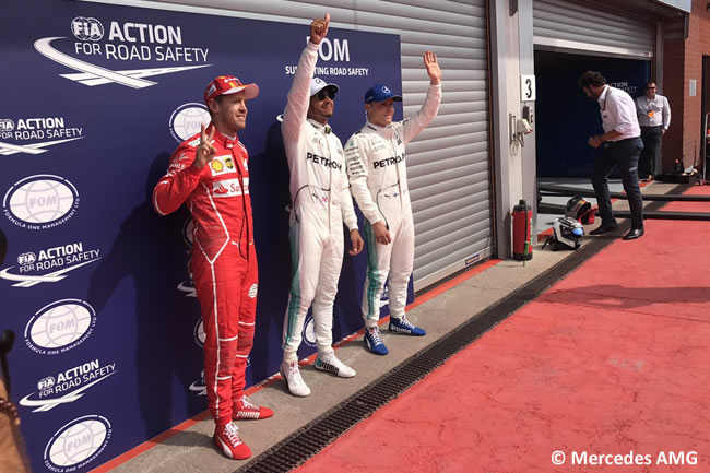 Lewis Hamilton - Valtteri Bottas - Mercedes AMG - Sebastian Vettel - Calificación GP Bélgica 2017