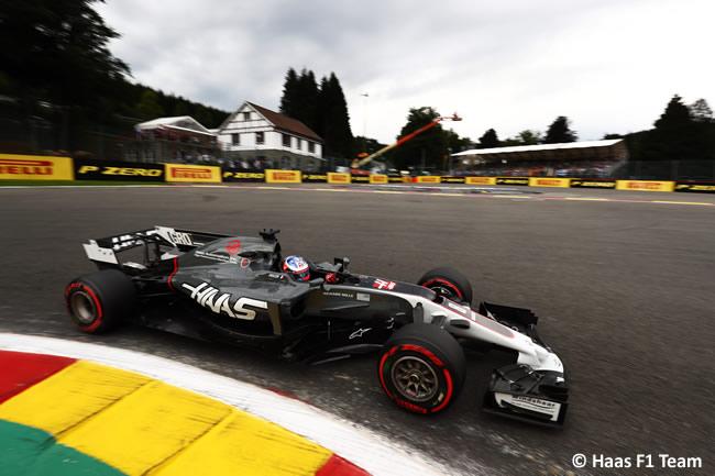 Romain Grosjean - Haas - Entrenamientos - GP Bélgica 2017